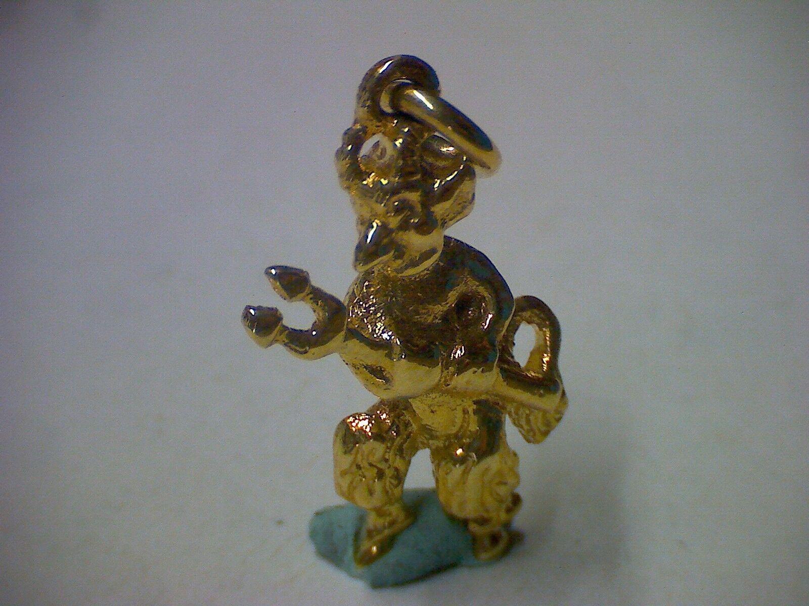 Anhänger Teufel in yellow-gold 585 massiv plastisch (30