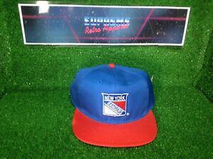 Trapunta Vintage 80s NHL New York Rangers AJD Ufficiale Hockey Snapback Cappellino Film Prop