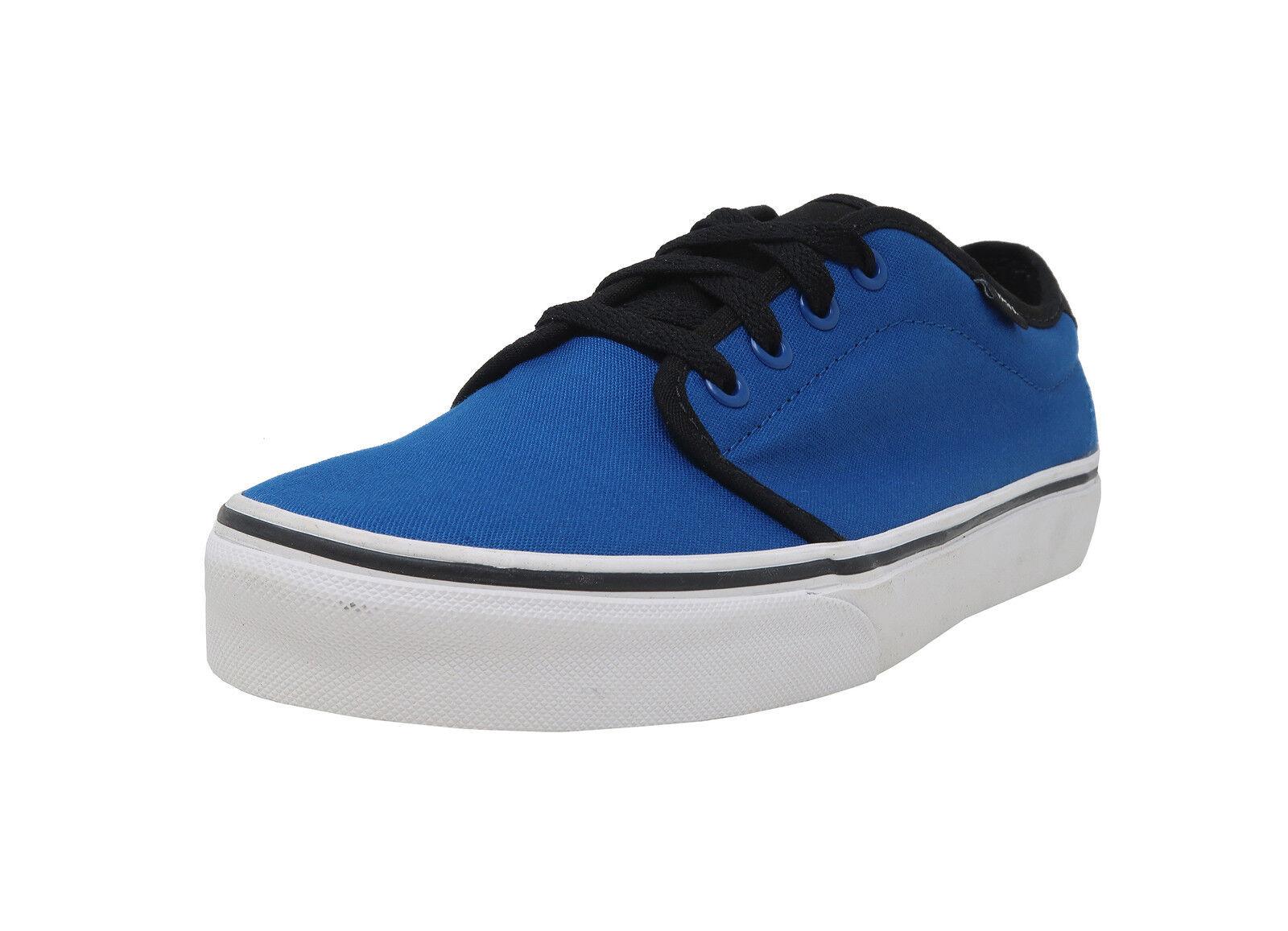 VANS 159 Vulcanized Snorkel bluee Black White Lace Up Canvas Athletic Men shoes