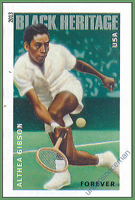4803a Althea Gibson Black Heritage Imperf Single fr. Press Sheet No Die Cuts