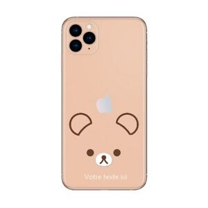 Coque Iphone 12 PRO MAX ourson kawaii personnalisee