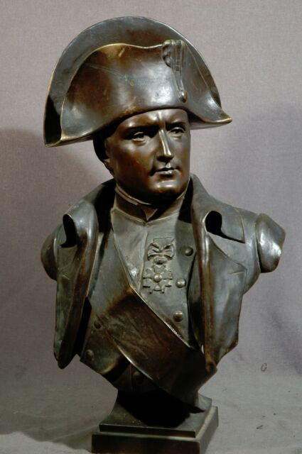 "BRONZE BUST of NAPOLEON BY EUGENE MARIOTON 23.5"" HIGH OWNER PAID 22.5% MORE"