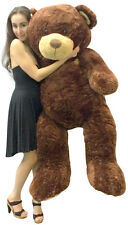 Big Plush 5 Foot Teddy Bear Soft Brown Premium Giant Stuffed Animal 60 Inch New