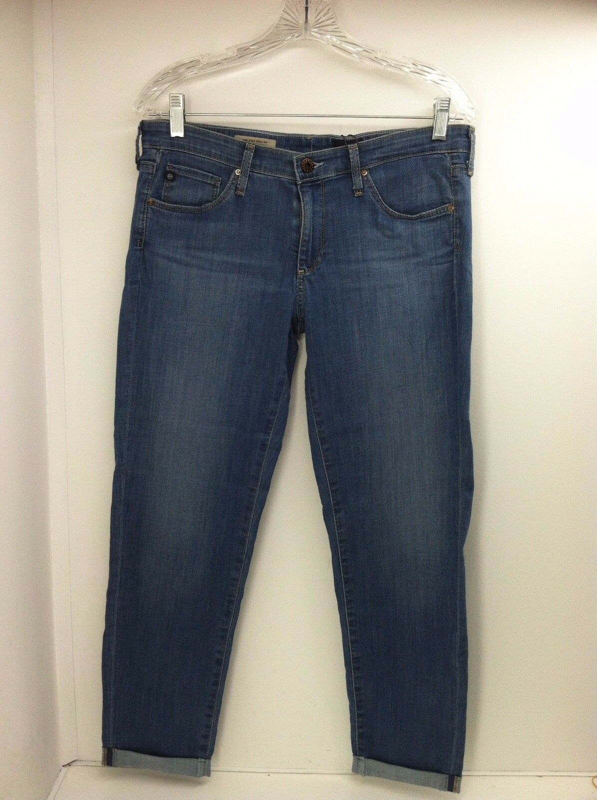 Adriano goldschmied Size 31 Jeans The Stilt Roll Up bluee Denim Style ALS1333