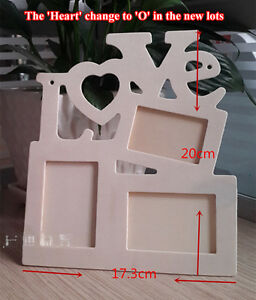 Paint Your Own Love Wooden Wood Photo Frame Kid Gift Party