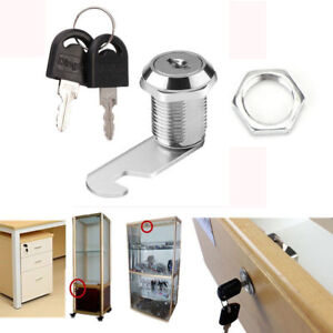 16MM 20MM Cam Lock For Cabinet Mailbox Drawer Cupboard Locker + 2 Secure