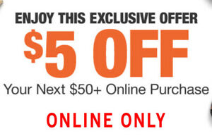 Home Depot 5 Off 50coupons Online Use Only Very Fast Sent Ebay