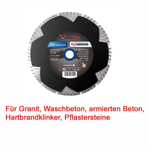 TOROFLEX Diamant Trennscheibe 115 125 180 230 mm Granit Beton Klinker Pflaster