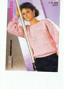 PATONS KNITTING PATTERN LADYS BLOCK LACY PATTERN SUMMER SWEATER DK 32034  38034 - Desborough, United Kingdom - PATONS KNITTING PATTERN LADYS BLOCK LACY PATTERN SUMMER SWEATER DK 32034  38034 - Desborough, United Kingdom