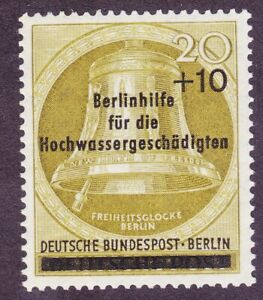 Germany-Berlin-9NB17-MNH-OG-1956-20pf-10pf-Surcharged-Bell-Issue-Very-Fine