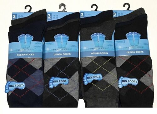 Da Uomo facile presa Big Foot Smart Suit colorato design ufficio Calzini