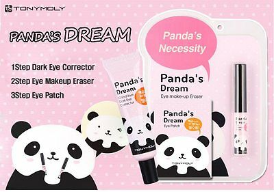 Panda Makeup Remover 1pcs / Eye Corrcetor 1pcs /Eye Patch 10pcs/ Total12 pcs