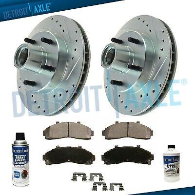 2 00-02 Excursion REAR WHEEL DRIVE Brake Front Rotors /& Cer Pads Bearings Seal