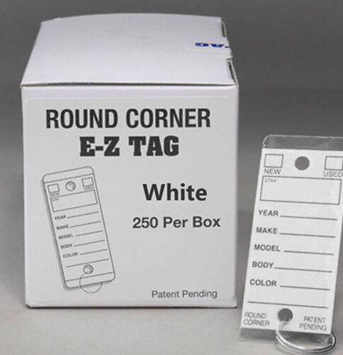 Quantity 250 Per Box Dealer Key Tags White