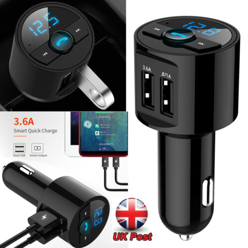 Bluetooth Car Kit Wireless FM Transmitter 2 Dual USB Charger Audio MP3 Player