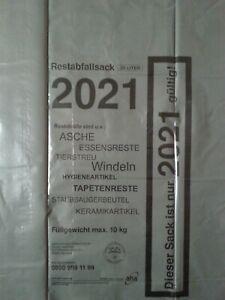 5 aha-Restabfallsäcke 2021 Abfallsäcke Restmüllsäcke Müllsäcke