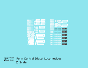K4-Z-Decals-Penn-Central-PC-Diesel-Locomotive-White