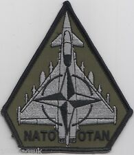 Royal Airforce RAF Typhoon NATO Operations Subdued Embroidered Patch Badge