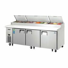 Everest Eppr3 93 Three Section Refrigerated Pizza Prep Table 300 Cu Ft