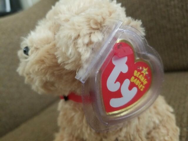 Ty Beanie Baby Dooley Golden Retriever Dog Puppy 2006 MINT plastic tag cover