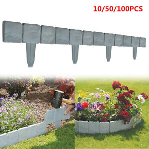 New Home Garden Border Edging Plactic Fence Stone Lawn Yard Flower