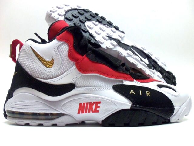 pretty nice 71aab b3f82 Nike Air Max Speed Turf 49ers White Black Red Diamond 525225-101 Men's Size  11