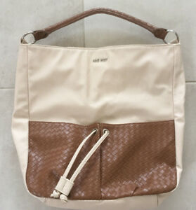 NINE-WEST-Caramel-Tote-Bag-Leather-Handbag-New-Without-Tags