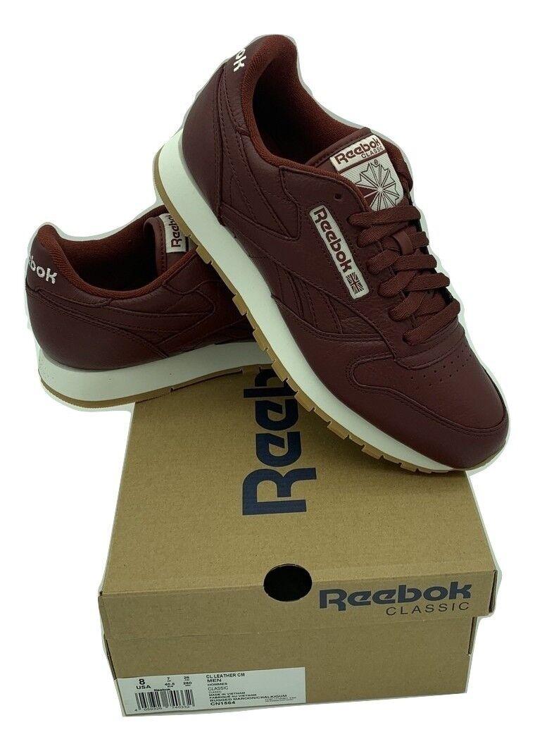 Reebok Classic Cuir cm Homme paniers Chaussures De Course-CN1564-Bourgogne