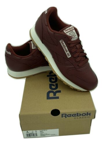 Reebok hombre Cm deporte Burgundy zapatillas Zapatillas Cn1564 de Leather Classic para FEw7xqW0n