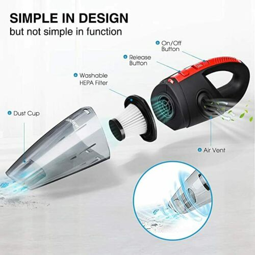 Vacuum Cleaner Car Portable Handheld Wet Dry Hoover Cordless Home Rechargeable 1