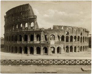 Rome  3635 Colosseum Large vintage silver photo Roma Giacomo Brogi ... b22c0a458a5