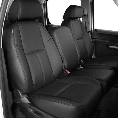 Fine 2010 2013 Chevrolet Silverado Crew Cab Black Katzkin Leather Interior Seat Cover Ebay Short Links Chair Design For Home Short Linksinfo