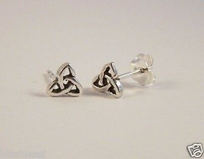 925 Sterling Silver Tiny SMALL Plain Celtic Knot Studs EARRINGS GIFT FREE P&P BN