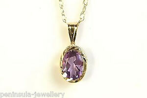 9ct-Gold-Amethyst-Pendant-Necklace-and-chain-Gift-Boxed-Made-in-UK