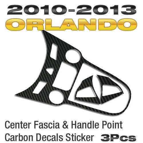 Center Fascia/&Handle Point Carbon Decals Sticker For CHEVROLET 2010-2015 Orlando