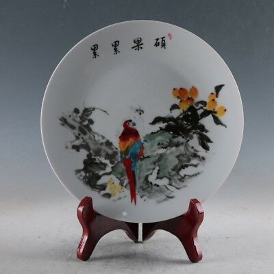 """10/"""" Chinese antiques Qing dynasty  Enamel  Blooming flowers  Adornment Plates"""