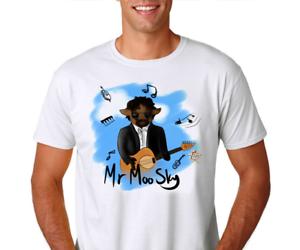 """Hommes//Unisexe T Shirt Comique Jeff Lynne VACHE /""""Monsieur Moo Sky/"""" impression pour Elo fans"""