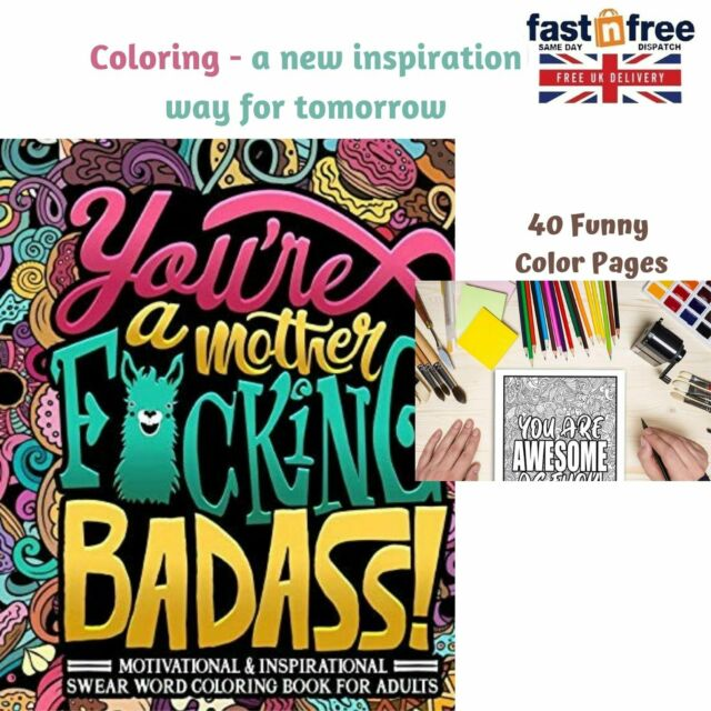 Adult Colouring Book Swear Word Stress Relief Relaxation 40funny Pages 2020  For Sale Online EBay