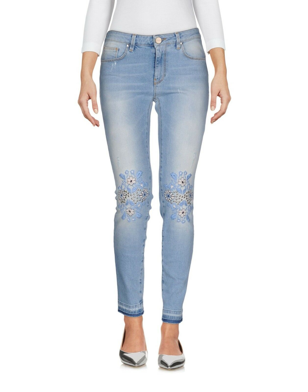 Jeans Donna Pantaloni rosaO Made in  H300 Tg 28