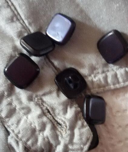 Strickwaren Knöpfe quadratisch diverse Farben Boutons Buttons botones кнопки