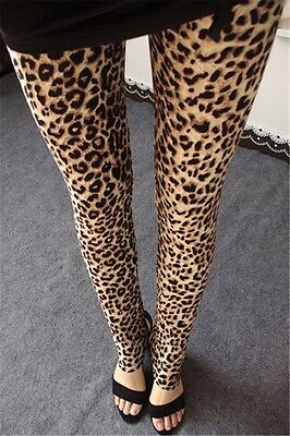 NEW Women Sexy Leopard Leggings Stretchy Jeggings Skinny Pencil Pants Slim Tight