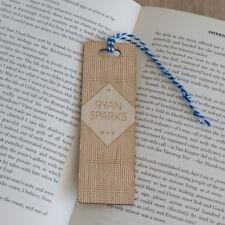 Personalised wooden bookmark Laser engraved vintage geometric pattern L181