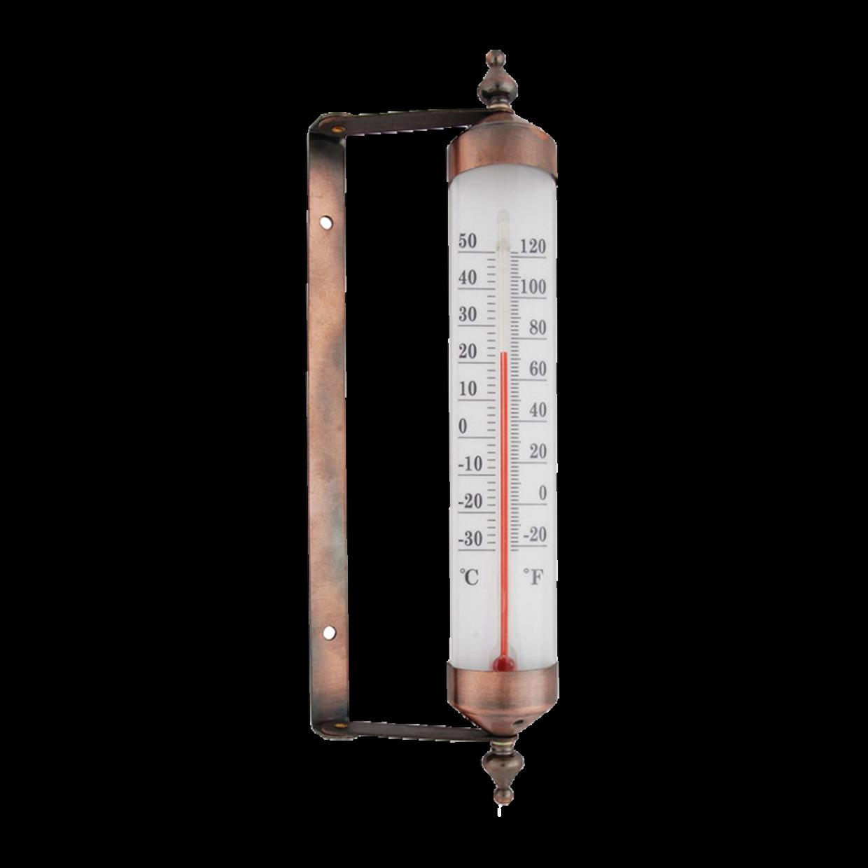 Wall Window Thermometer Steel Indoor Outdoor Garden 25cm Decor Temperature