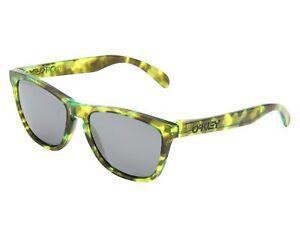 947b5343ae Image is loading Oakley-Frogskins-Polarized-Sunglasses -Acid-Tortoise-Green-Frame-