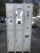 Penco 6 Separate Gray Metal Lockers All In One Cabinet Industrial Lockers