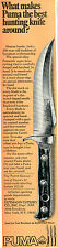 1971 Print Ad of Gutmann Cutlery Co #6393 Puma Skinner Pumaster Hunting Knife