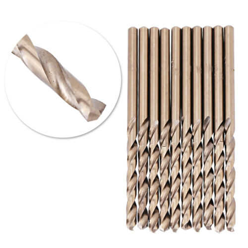 10pcs 3mm M35 Cobalt Drill Bits HSS-CO Drills Set for Drilling Stainless Steel