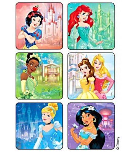 20 Disney Princess castle Stickers Party Favors  Ariel Cinderella Belle Tiana