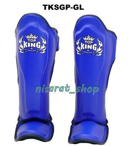 L Muay Thai BLUE S,M XL MMA Guards Pads Boxing 4Fit Shin Instep Protectors