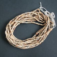 African Clay Beads Mali Tiny Terracotta Earthy Tones, Gorgeous, Long Strand